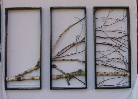 Decorating The Walls Of Dry Tree Branches Of Course I Rustic Art Tree Branch Wall Decor Rustic Wall Art