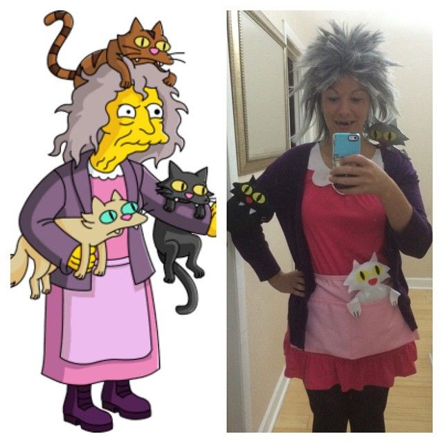 Simpson Crazy Cat Lady Costume , Tap the link now to see all of our cool  cat collections!