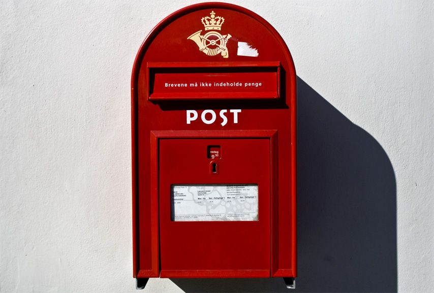 European style red mailbox red aesthetic red mailbox
