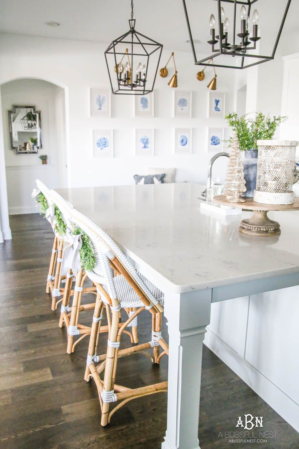 Best Blue And Silver Christmas Kitchen Home Tour Christmas 400 x 300