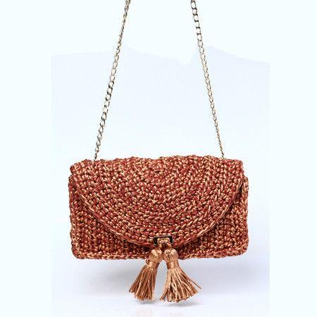 d1502d9d1 Bolsa Baguete Horizonte • Bronze • CM325 - Catarina Mina Crochet Saco,  Crochet Clutch,