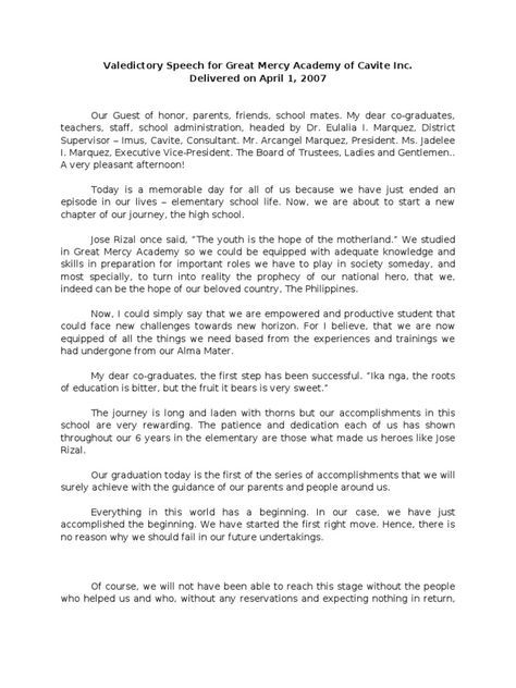 Sample Of Elementary Valedictory Speech Harvard Law School
