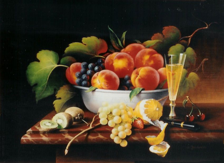 Still Life Fruit Bowl Fruit Bowl Oil On Board 18 X24 Arts