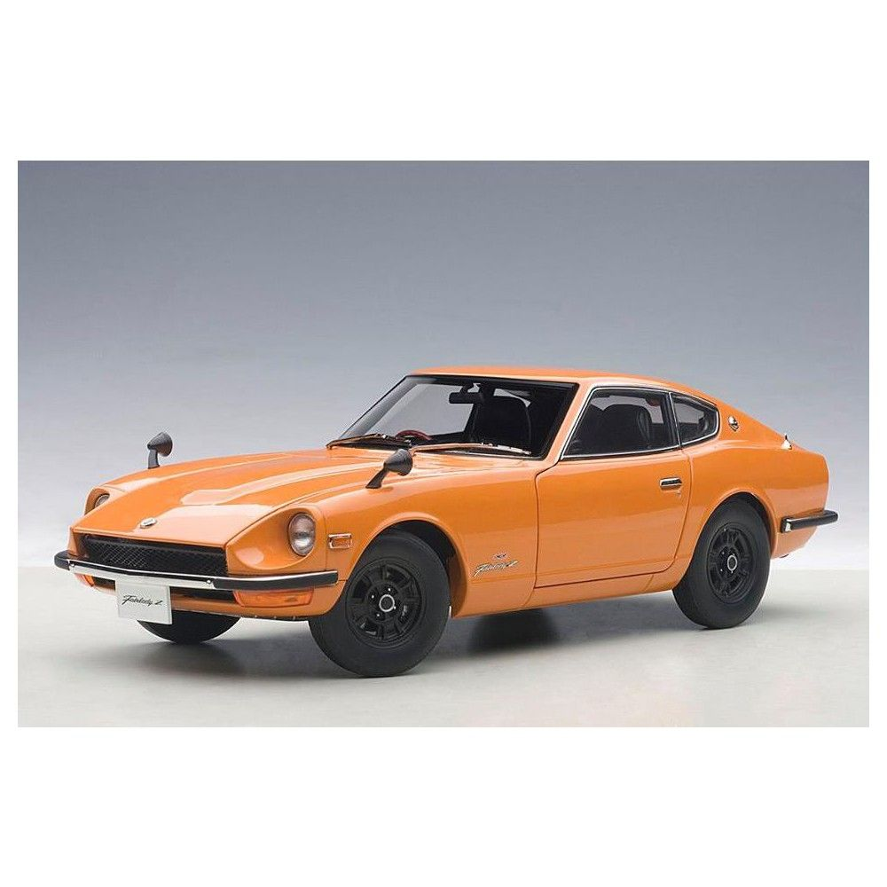 1969 Nissan Fairlady Z432 (PS30) Orange 1/18 Diecast Car Model by Autoart