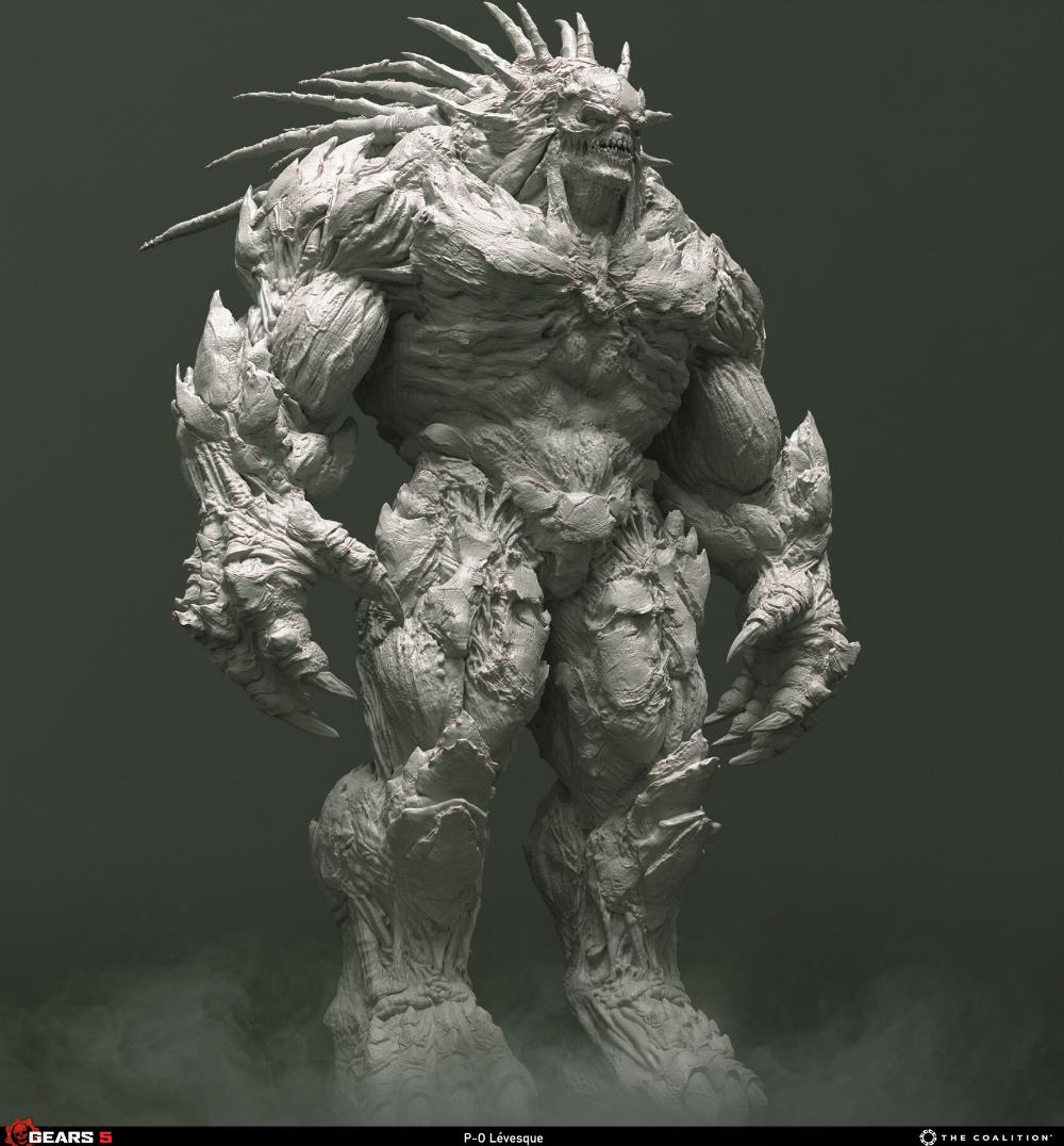 Artstation Gears 5 Matriarch P O Levesque Dark Fantasy Art Gears Of War Gears