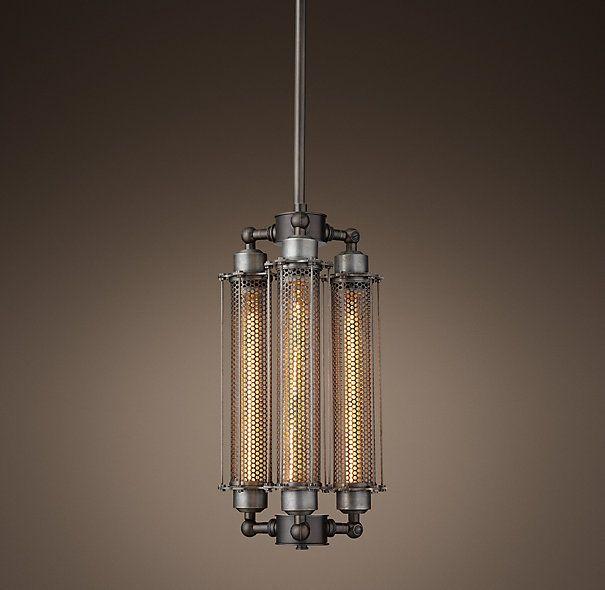 Grand Edison Metal Perforated 3 Bulb Pendant Basement Lighting Bulb Lantern Lights