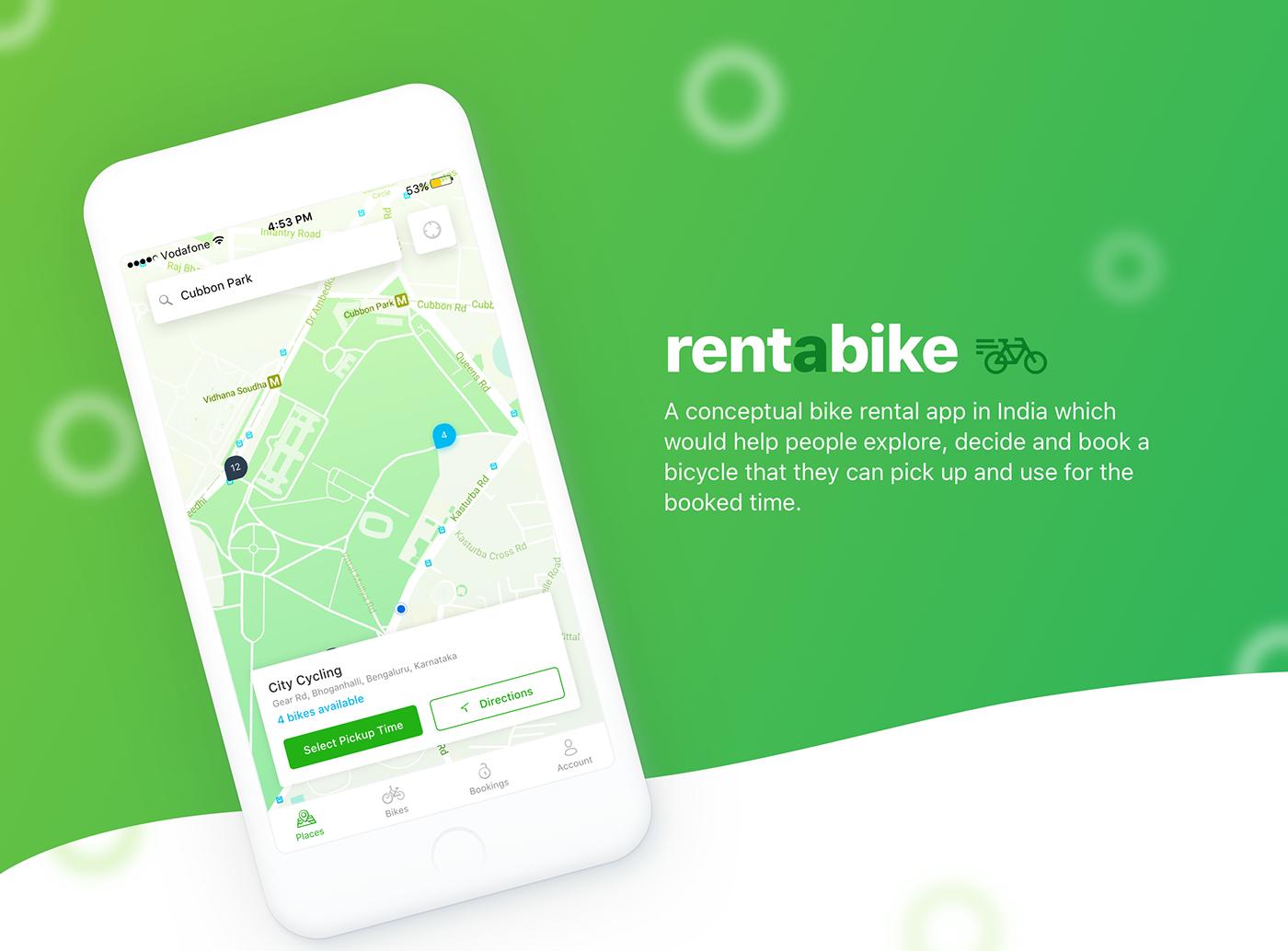 Rentabike Bike Rental Ios App Concept On Behance