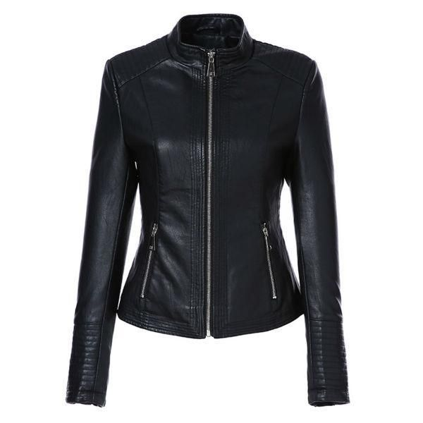 4e9890819 AORRYVLA Leather Jacket Women in 2019   Leather Jackets For Women ...