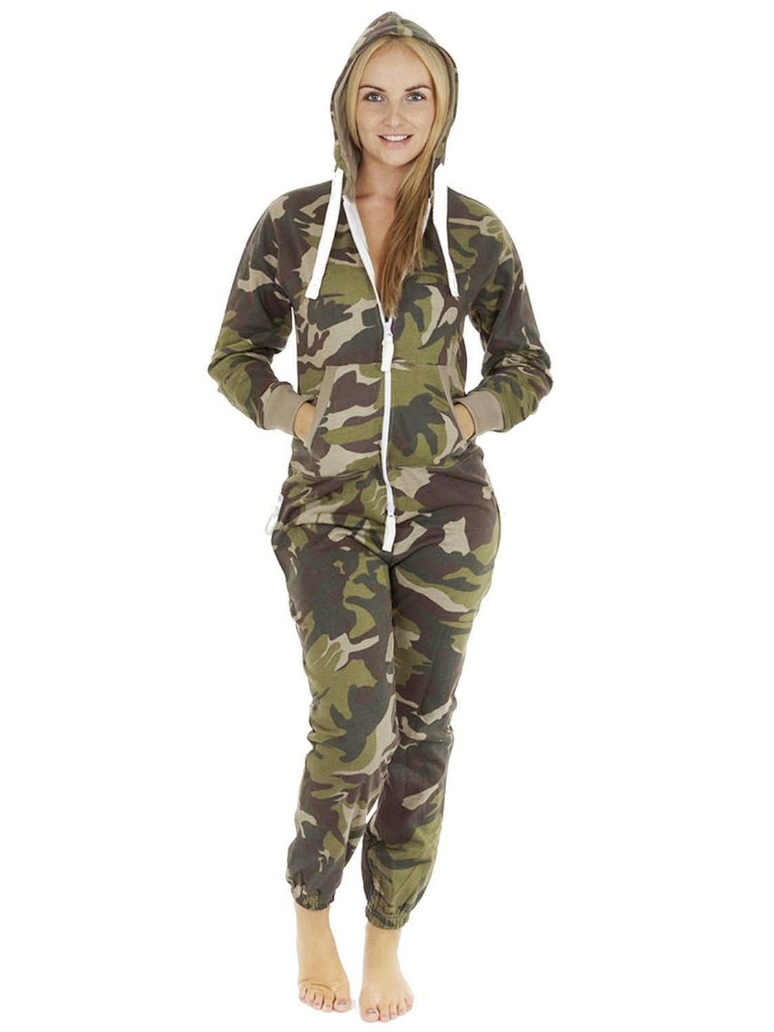 5b8c34d296a6 Womens Camouflage Onesie Adults Teens Jumpsuit Onesies For Men   Amazon.co.uk  Clothing