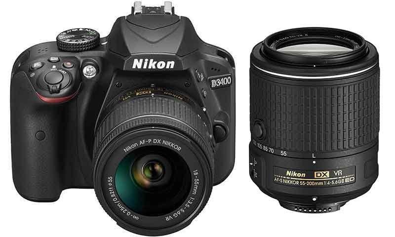 841 94 Nikon D3400 Dslr 18 55mm Vr Ii 55 200mm Vr Ii Twin Lens Kit Cameras Direct Australia Dslr Nikon Camera Nikon