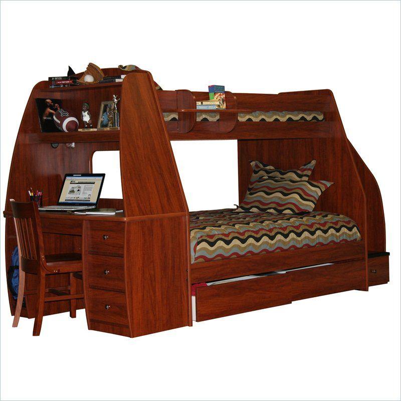 Best Berg Furniture Enterprise Twin Over Full Bunk Bed 40 525 400 x 300
