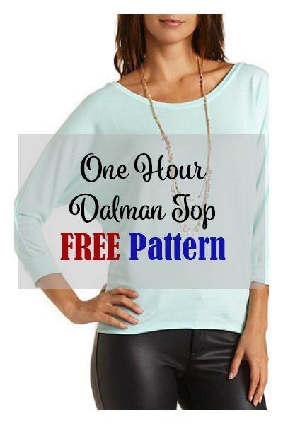 One Hour Top FREE Pattern | Schnittmuster | Pinterest | Nähen ...