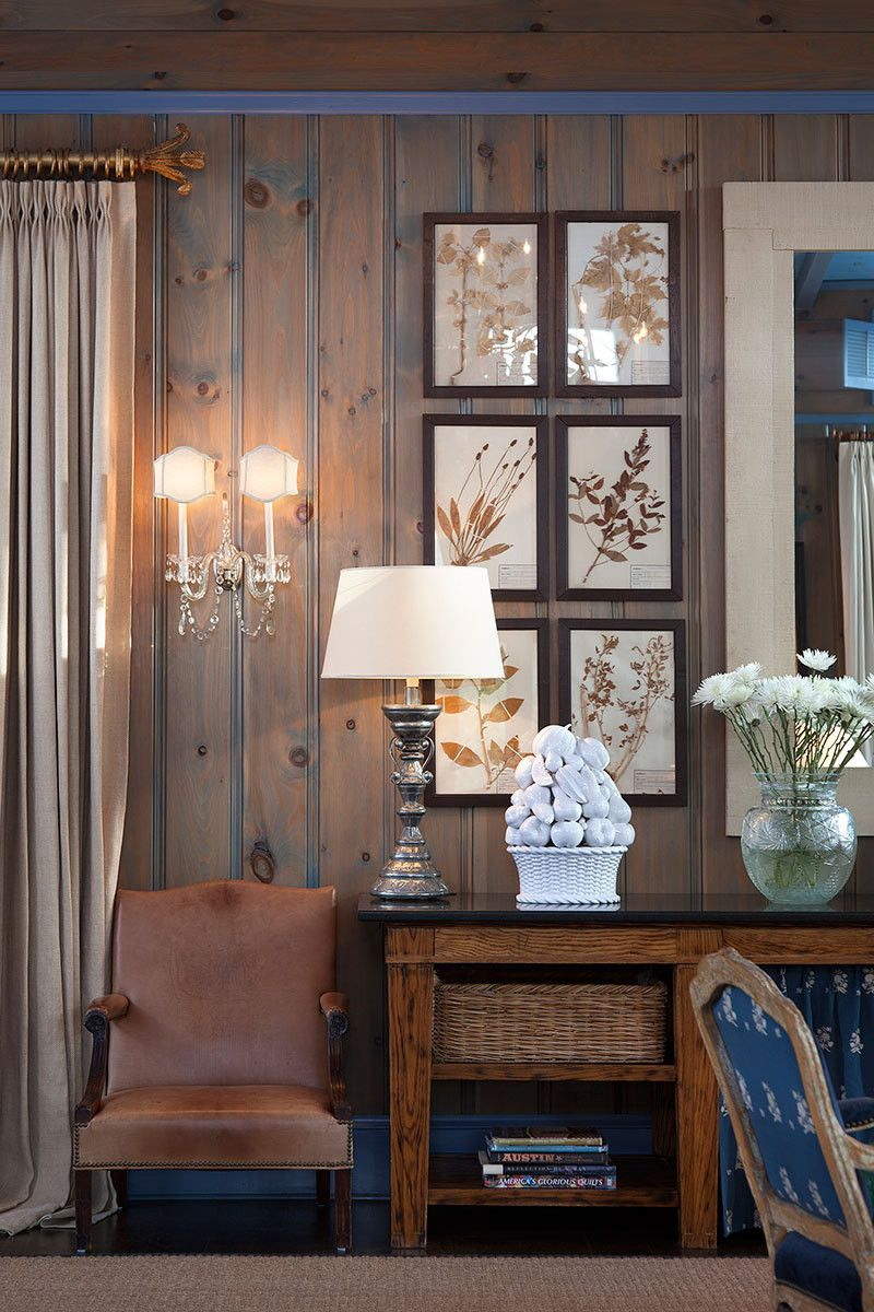 Wood Paneled Room Design: Family Room Design, Living