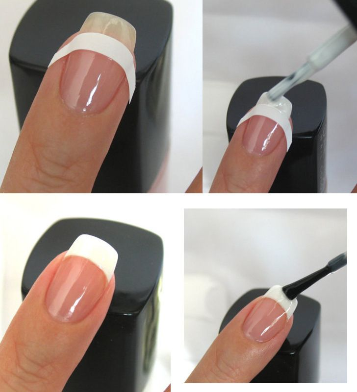 nail designs step by step with tape