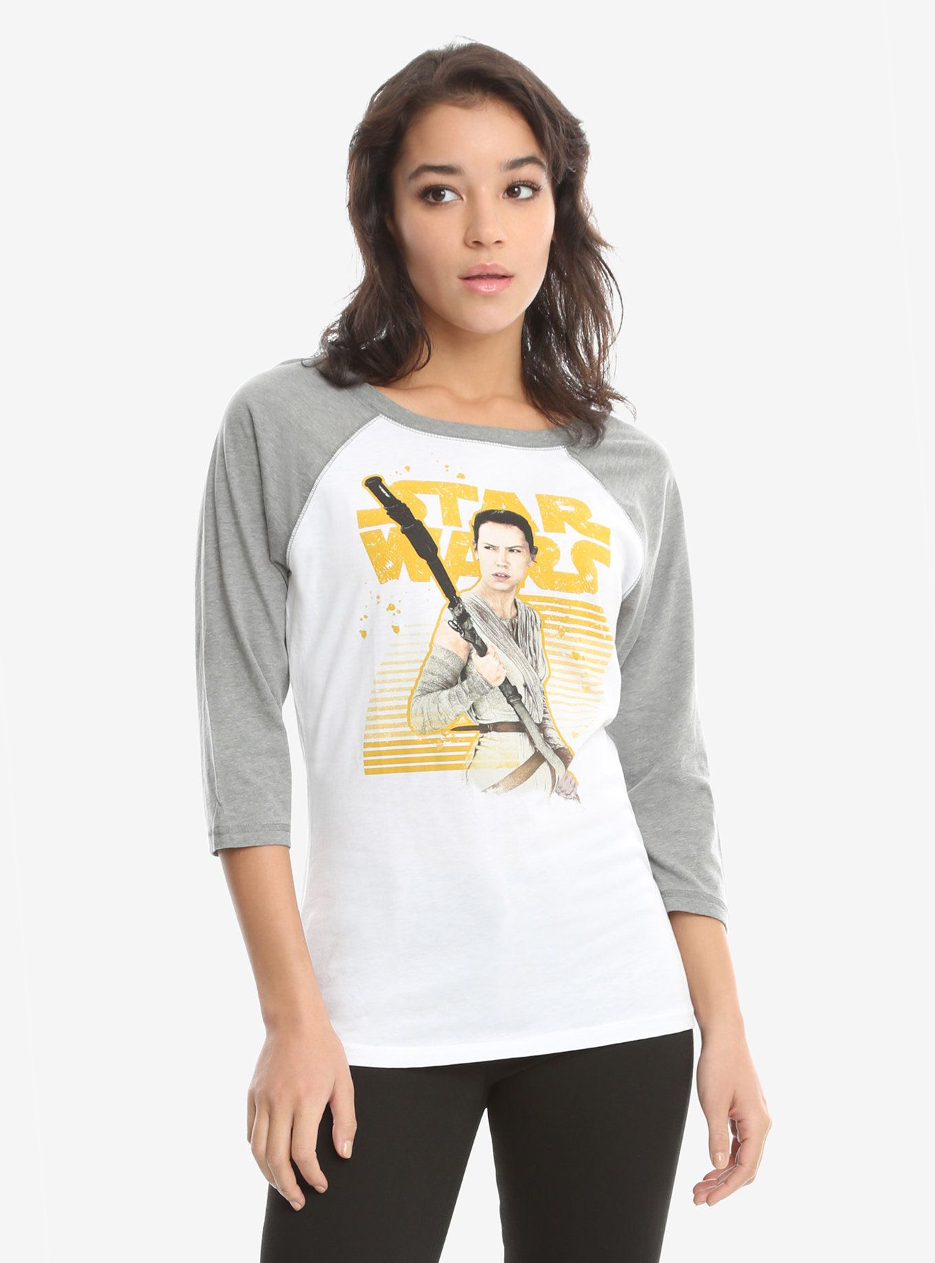LADIES Official Licensed STAR WARS THE FORCE AWAKENS REY T-Shirt