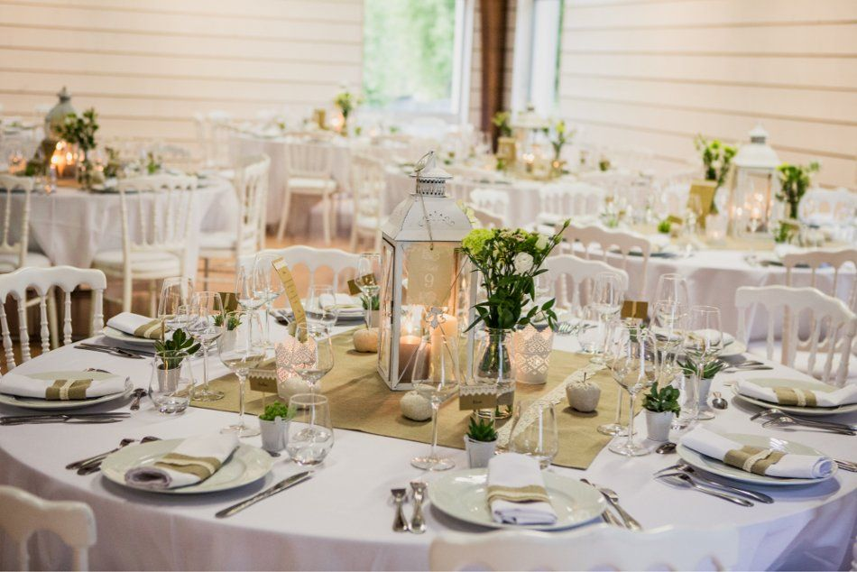 centre table deco table table centerpieces strasbourg cotton wedding ...