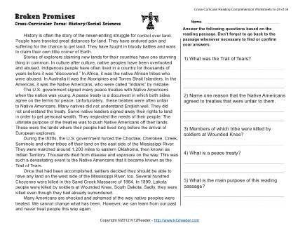Broken Promises | Reading Comprehension Activities | Pinterest ...
