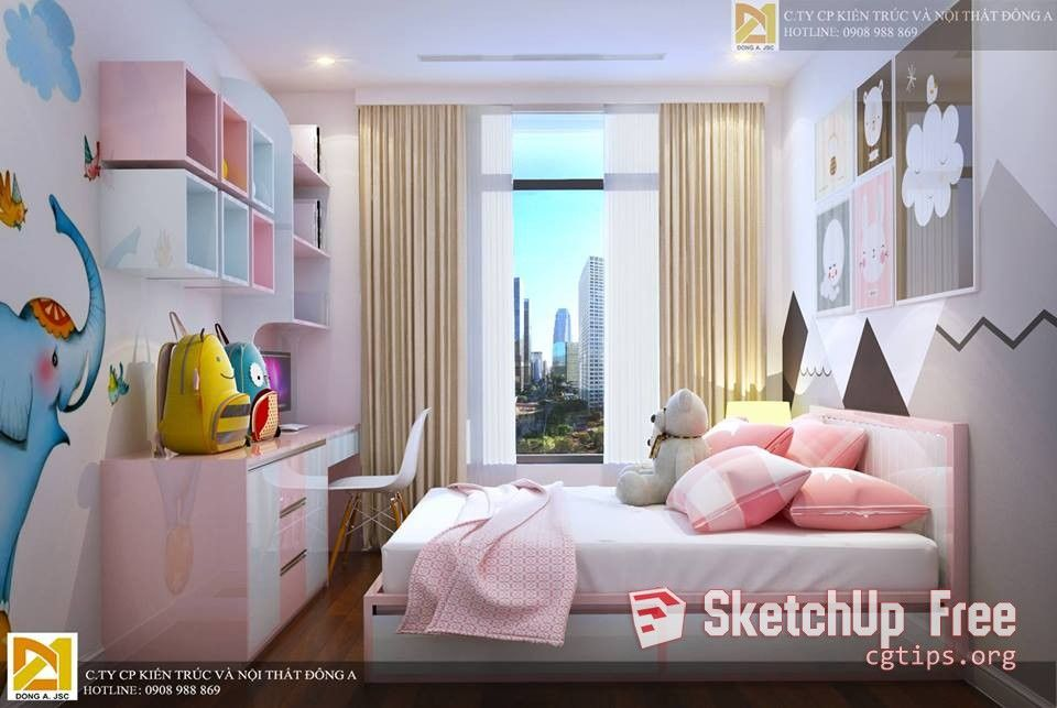 1749 Child Bed Sketchup Model Free Download | Sketchup Free
