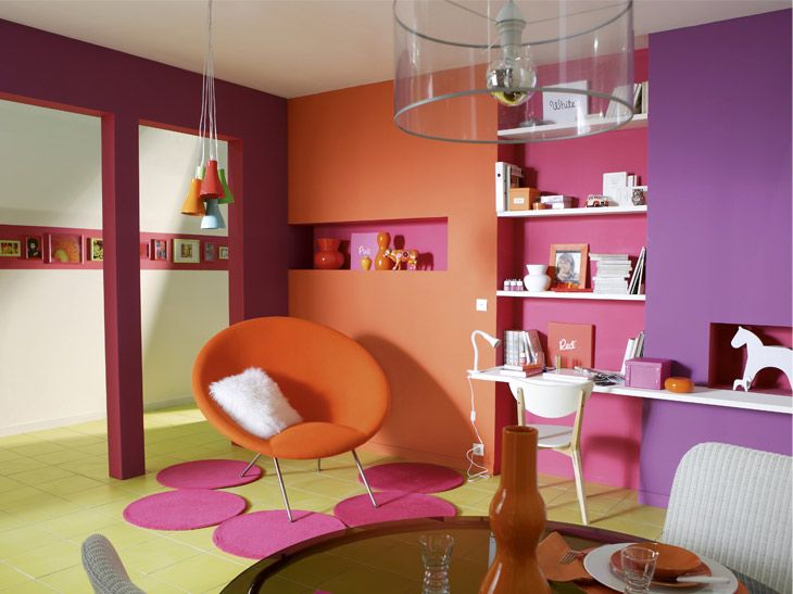 Couleur chambre fille | Colours,, combinations, home deco bedroom ...