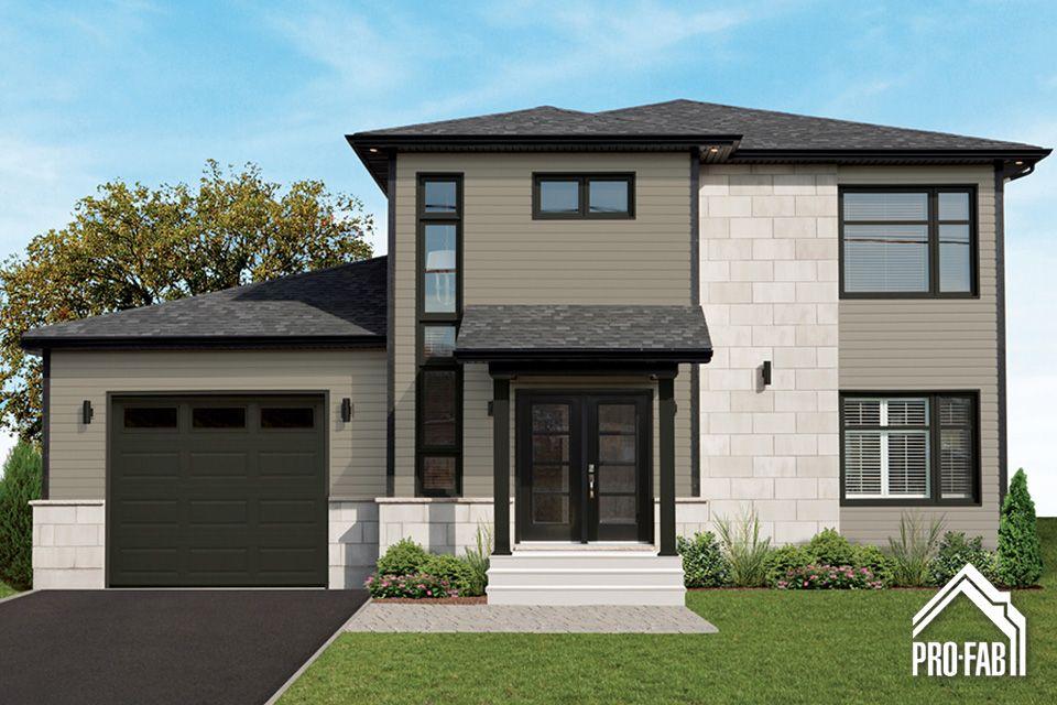 Pro fab constructeur de maisons modulaires usin es pr fabriqu es mod le arabica maison for Maison modulaire contemporaine