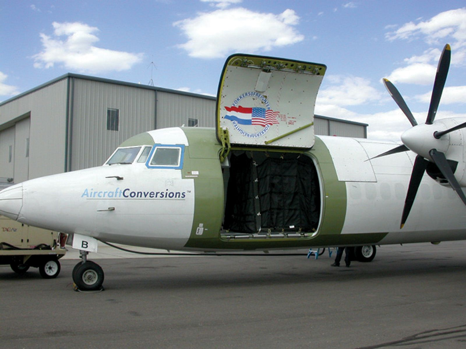 Fokker F50 Cargo aircraft, Fokker 50, Airfreight