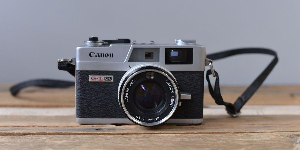 Canon Canonet Ql17 Giii Ql 17 35mm Rangefinder Camera Rebuilt Shutter Rangefinder Rangefinder Camera Film Camera