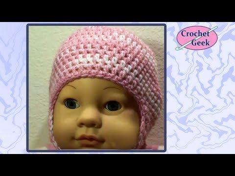 2e2d53c1fb6 How to make CrochetBaby Puff Stitch Hat Tutorial  CrochetGeek - Red Heart  Yarn - YouTube