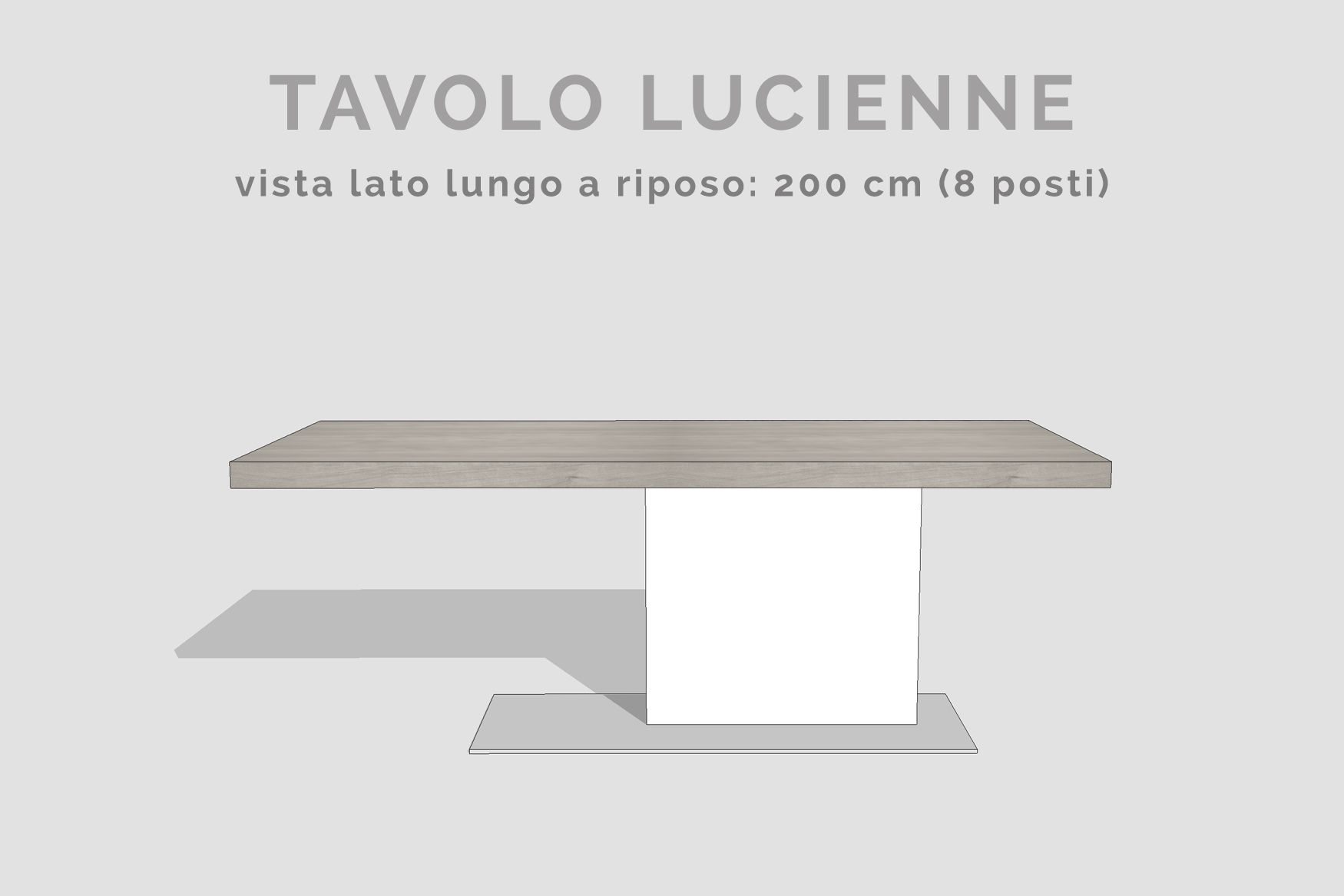 Tavolo Con Piede Centrale tavolo allungabile gamba centrale - tavolo lucienne | tavolo