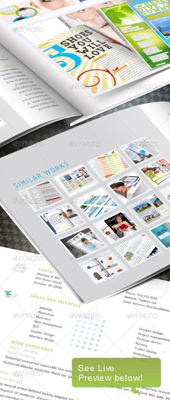 Web Portfoio InDesign template - Portfolio Brochures https ...