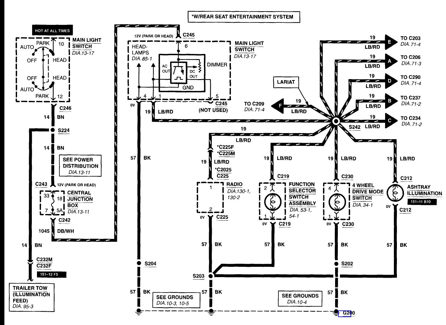 Ford F 350 Wiring Diagram Tail Lights Also