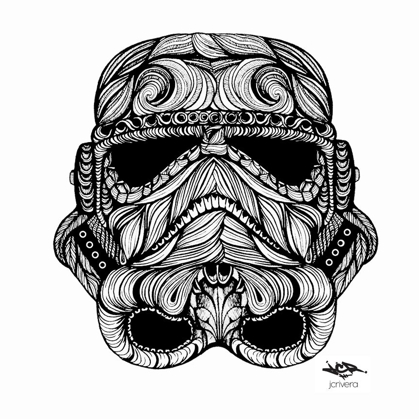 jc rivera Star wars drawings, Stormtrooper helmet