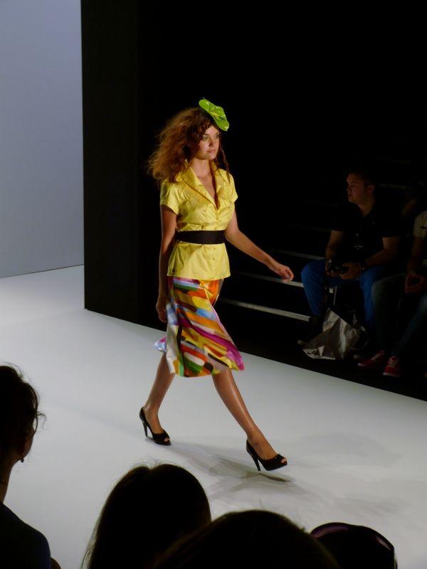 Model at Anja Gockel Spring/Summer 2013 - Mercedes Benz Fashion Week - http://olschis-world.de/  #AnjaGockel #Womenswear #Fashion
