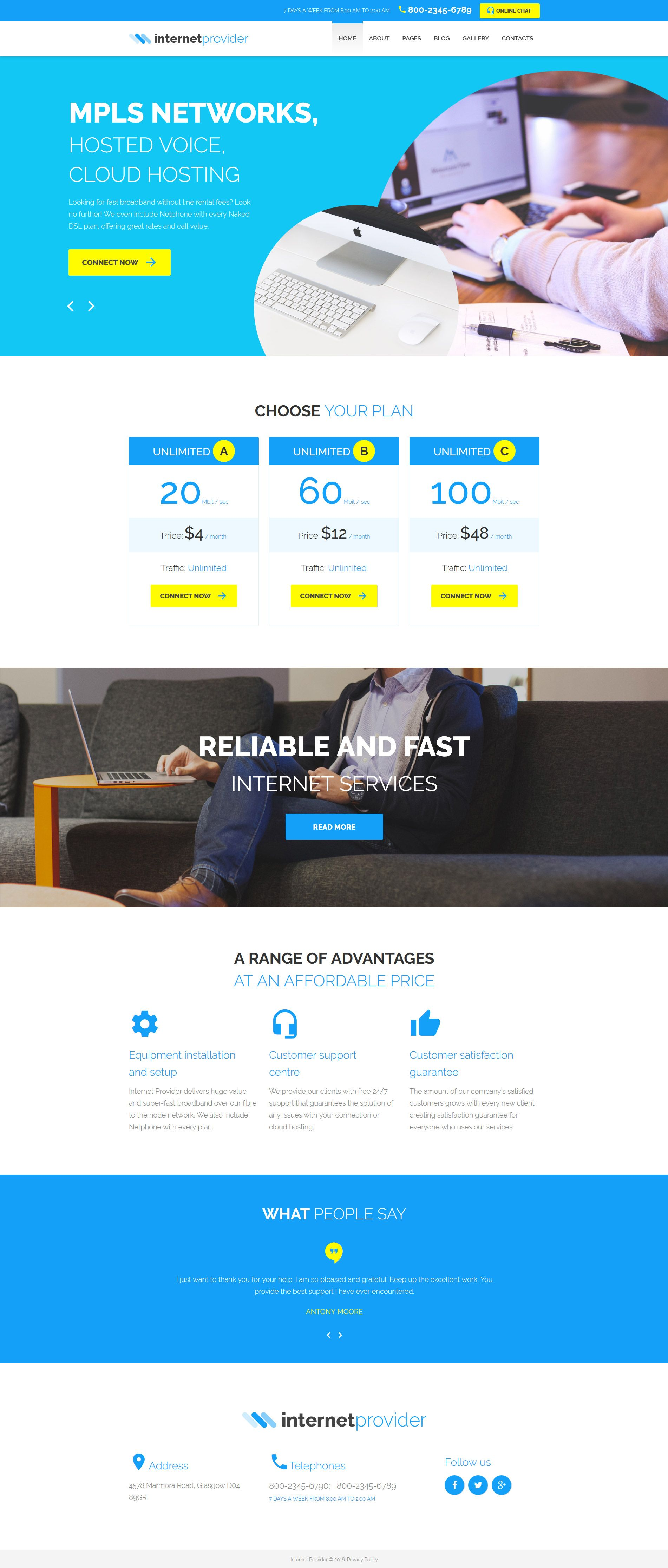 Internet Provider Joomla Template http://www.templatemonster.com ...