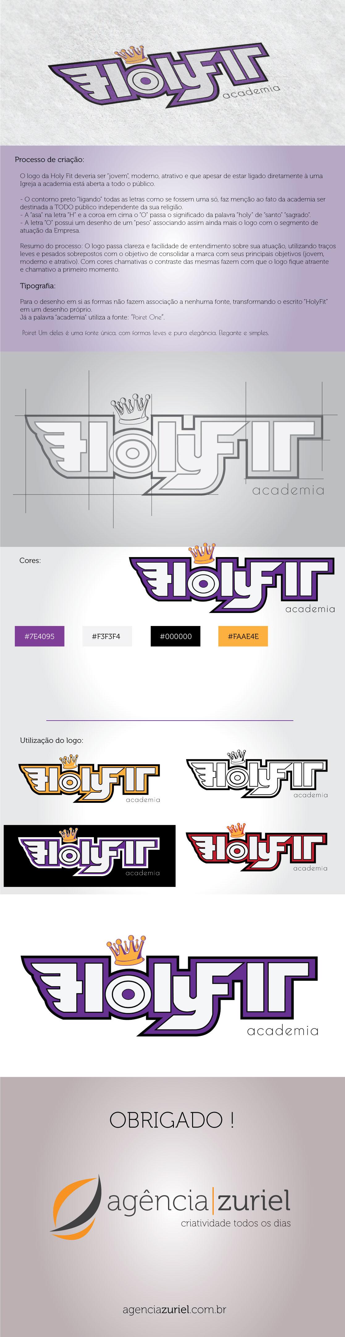 Criação do logo da HolyFit Academia - #brand #design #logodesign #identity #identidade #logo