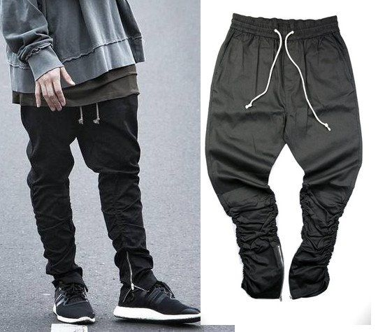 ee2c69ef79f Justin Bieber Zipper Hip Hop Jogger Pants Joggers With Zippers