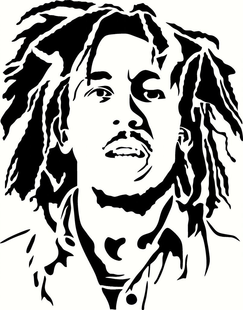 Young Bob Marley Vinyl Decal Graphic Choose your Color