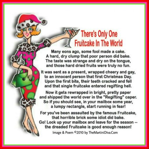 There's Only One Fruitcake In The World #Cocktails #Poem