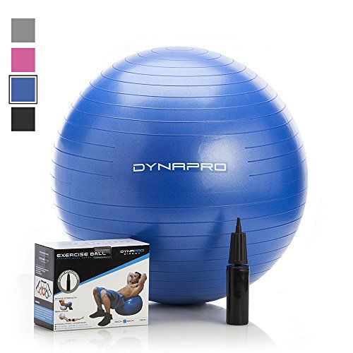 Exercise Ball with EQuick Start Workout Guide by CRUSH FITNESS  Gym Quality AntiBurst AntiSlip Fitness Ball More colors and sizes available aka Yoga Ball Swiss Ball Blue 75 Centimeters *** Check this awesome product by going to the link at the image.