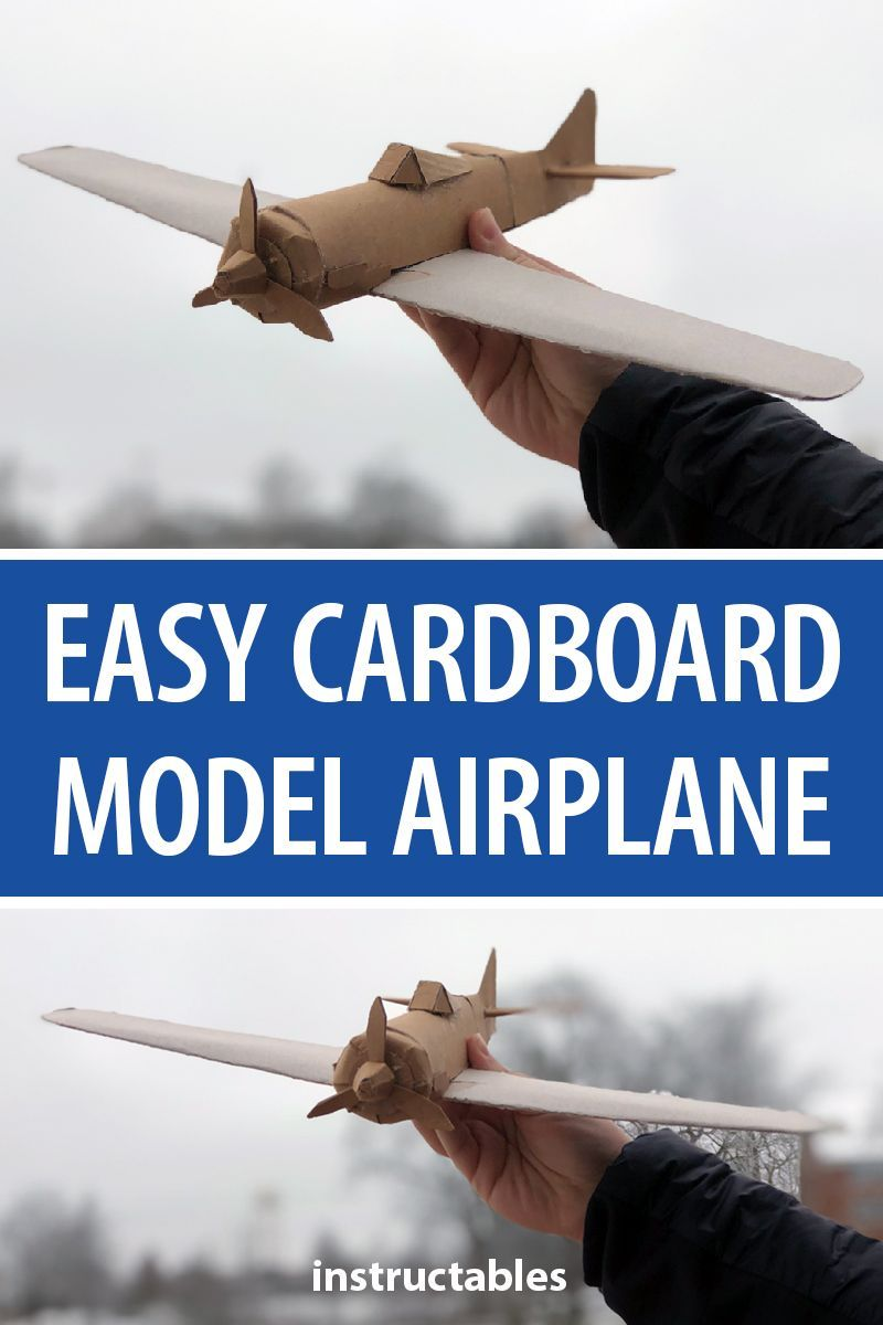 Easy Cardboard Model Airplane | Cardboard | Cardboard model