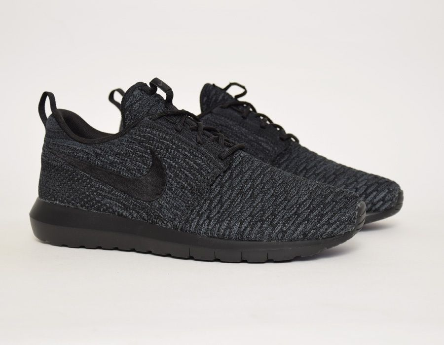 #Nike Flyknit Roshe Run Triple Black #sneakers