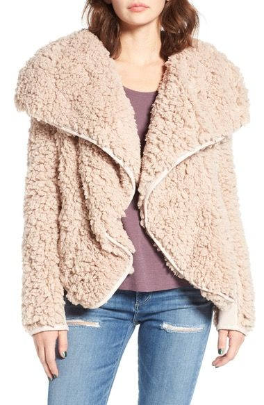Coffee Shop Whubby Draped Faux Fur Jacket available at #Nordstrom