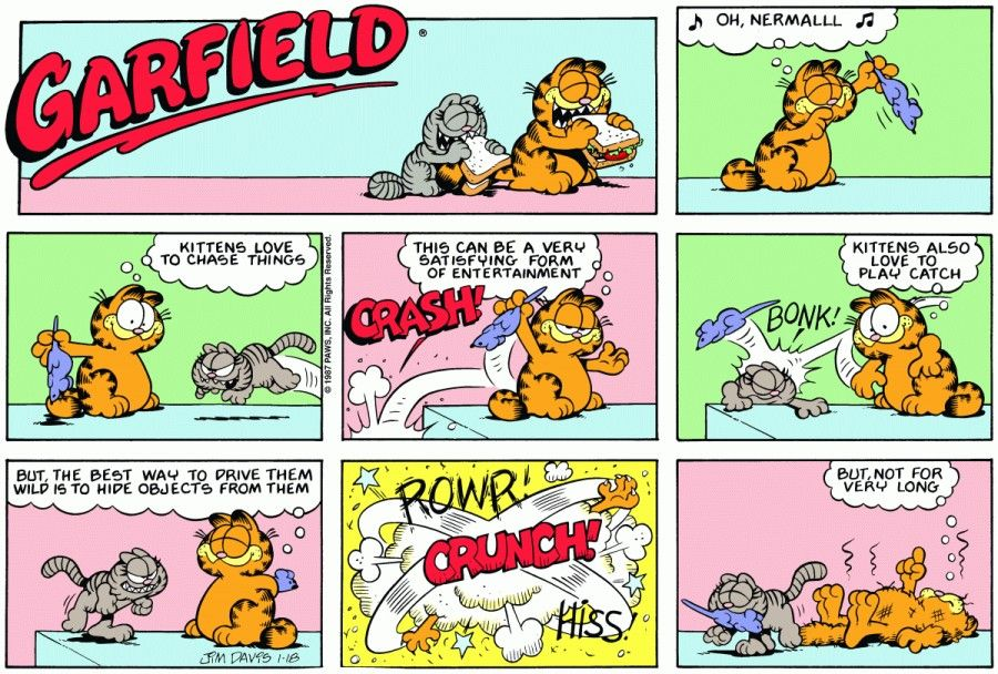 Garfield Tricks Nermal Garfield Comics Classic Comics Garfield