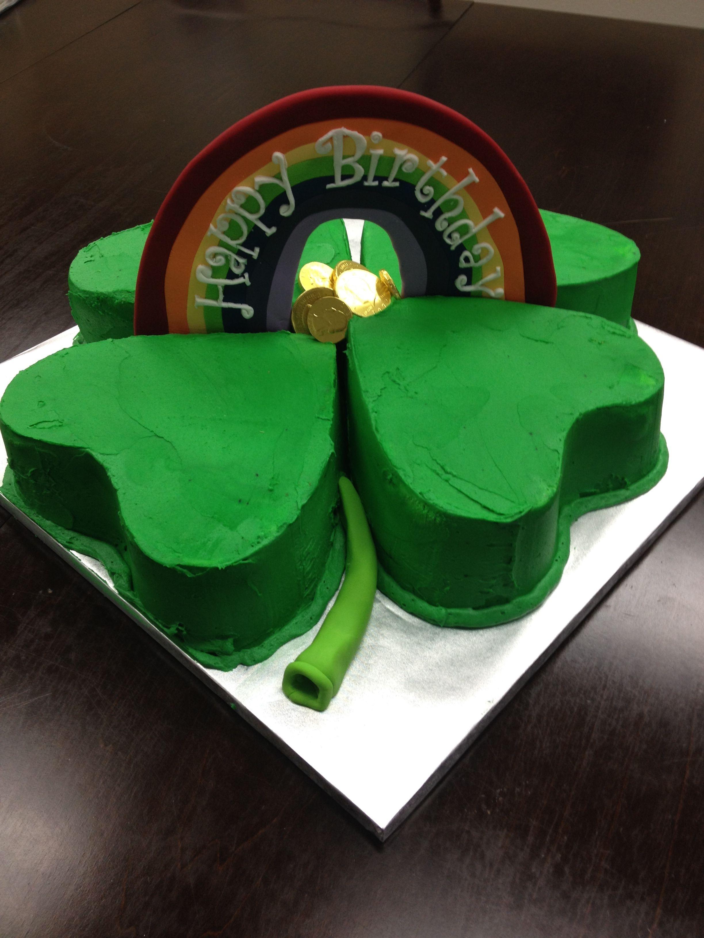 Surprising Shamrock Birthday Cake Special Occasion Cakes Occasion Cakes Birthday Cards Printable Trancafe Filternl