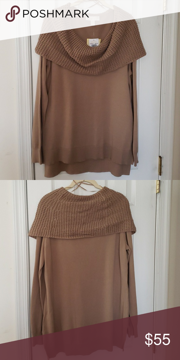 a4a4d7bcda9 Micheal Kors Cowl Neck Sweater Dark Camel Michael Kor Sweater Michael Kors Sweaters  Cowl   Turtlenecks