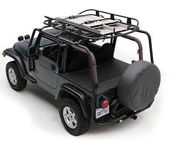 Smittybilt Jeep Wrangler Src Roof Rack 300 Lb Rating Black Textured 76715 04 06 Jeep Wrangler Tj Unlimited Roof Rack Jeep Wrangler Jk Jeep Wrangler