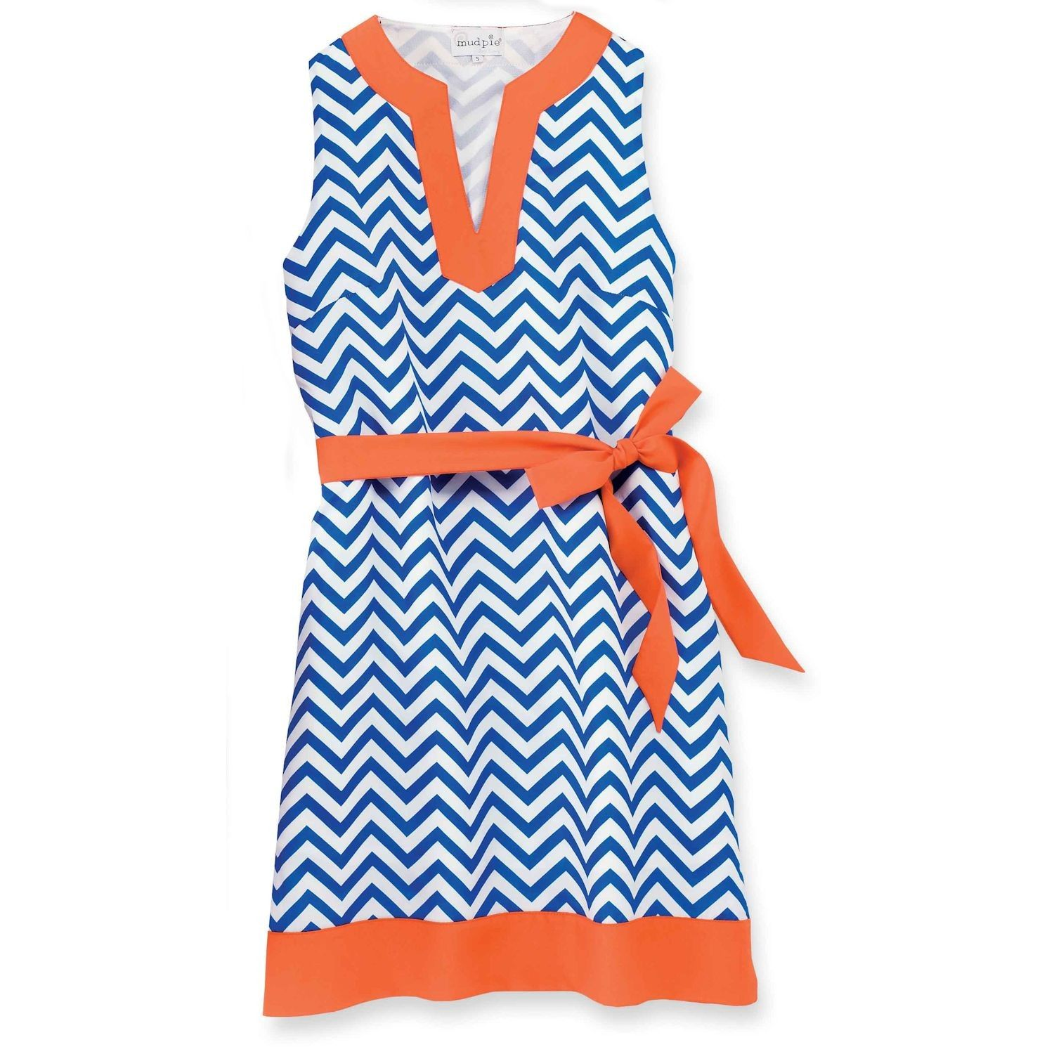 Blue/Orange Game Day Dress by Mud Pie (Figured this company had ...