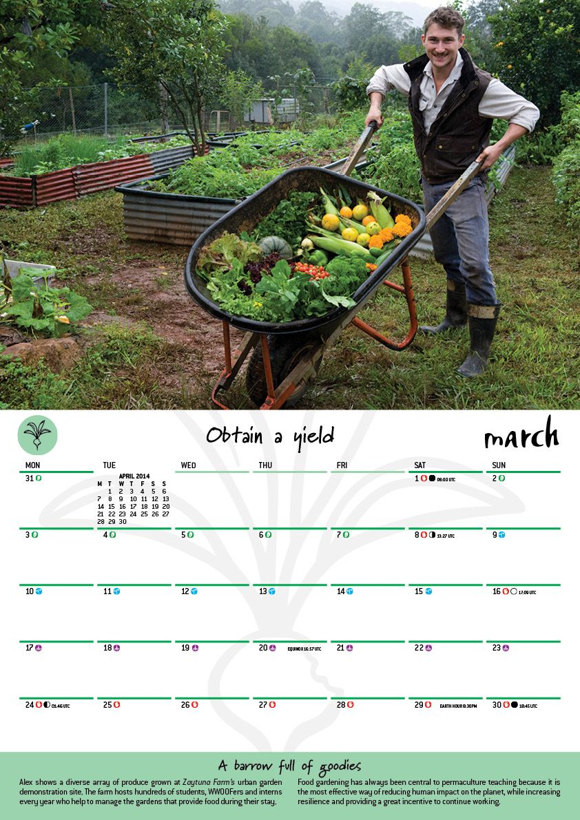 2020 Permaculture Calendar With Images Planting Guide