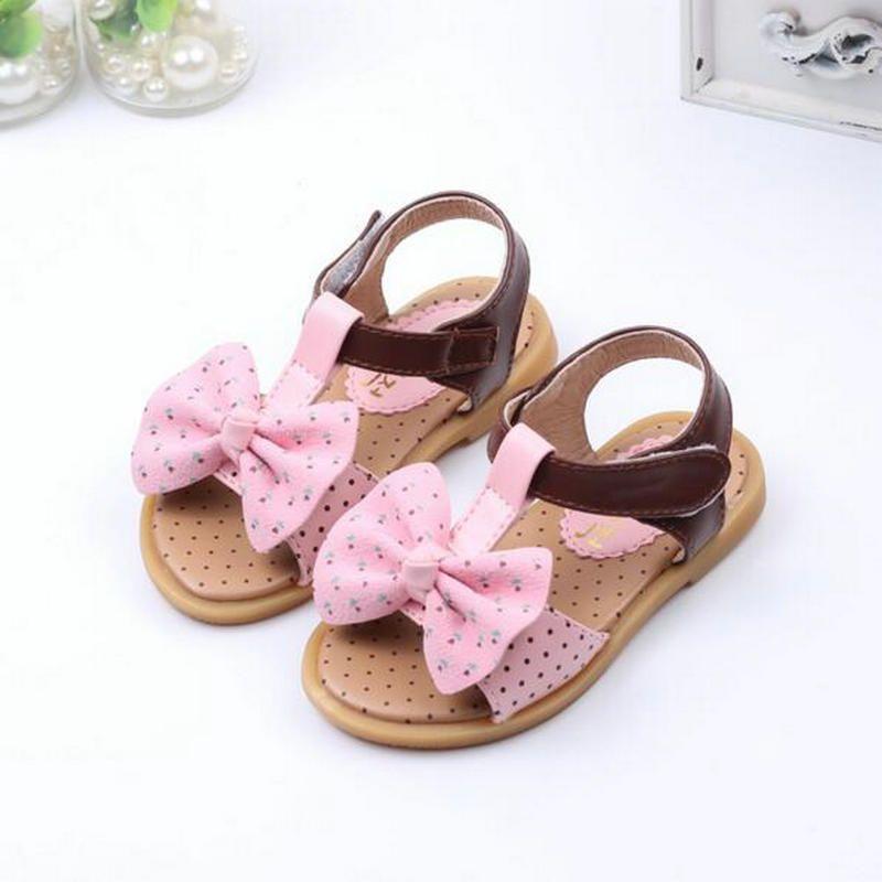 a63b0b94b67ac KKABBYII Princess Girls Sandals Kids Shoes New Summer Dots Big Bowtie Baby  Girls Shoes Cute Girls Beach Sandals Size 21-25  Affiliate