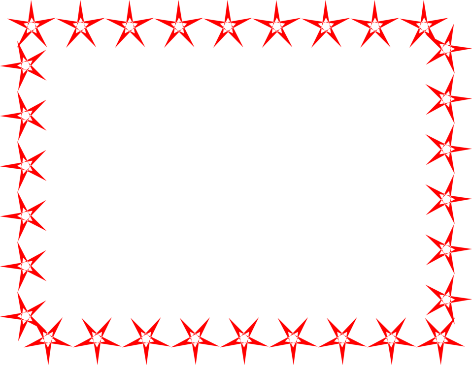 Illustration Of A Blank Frame Border Of Red Stars Free Stock Photo Stock Photos Free Stock Photos Red Star