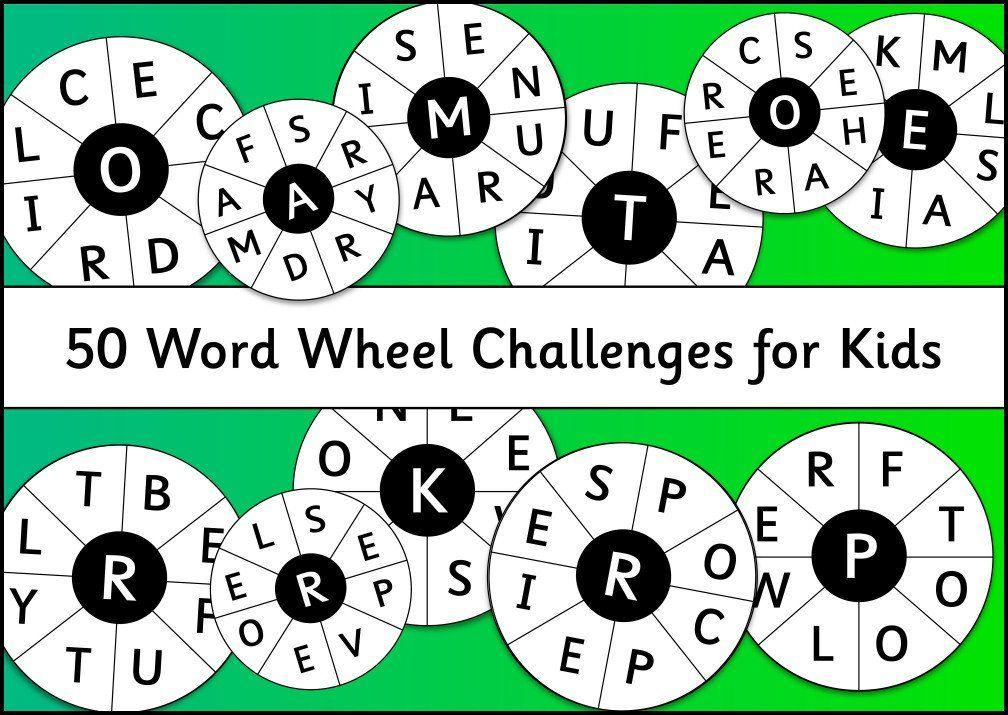 50 Word Wheel Challenges for Kids | Homeschool | Pinterest | Wheels ...